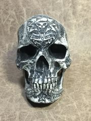 Special Forces Theme Real Human Skull Replica Carved by Zane Wylie