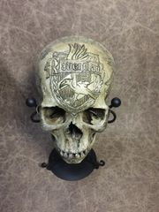 Ravenclaw Theme Real Human Skull Replica Carved by Zane Wylie