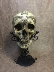 Celtic Warrior Real Human Skull Replica Carved by Zane Wylie