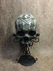 Free Mason Theme Real Human Skull Replica Carved by Zane Wylie