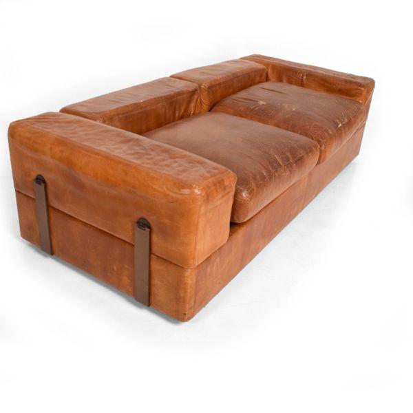 Mid Century Modern Italian Leather Sofa Bed | AMBIANIC mid century ...