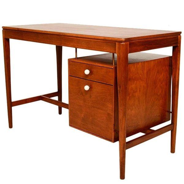 a35759b62f070 Mid Century Modern Walnut Desk by Drexel