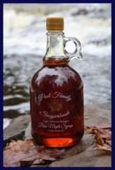 Pure Maple Syrup Glass Jug 33.8 oz/ Liter