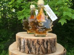 Pure Maple Syrup Glass Leaf 3.4 oz/ 100 ml