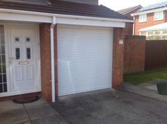 EG55 White Electric Roller Garage Door 7.6x7.6