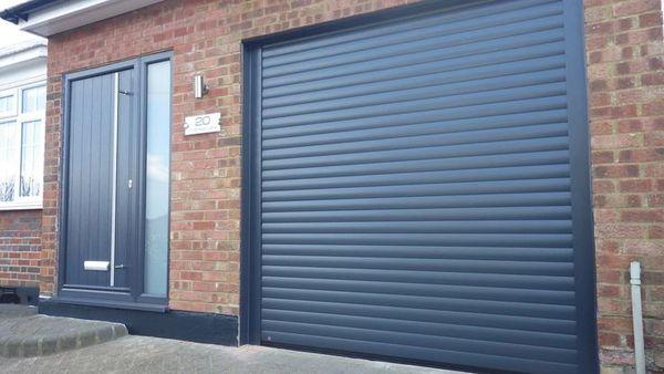Eg55 8x8 Anthracite Electric Roller Garage Door Easyglide Garage