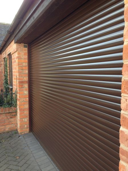 Eg55 8x8 Nut Brown Electric Roller Garage Door Easyglide Garage
