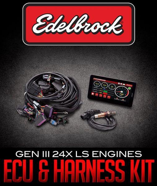 35712, Edelbrock Pro Flo 4 ECU & Engine Harness Kit for Gen IV 58X LS  Engines