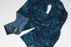 Shades of Blue Paisley Print Scarf