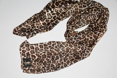 Satin Leopard Scarf