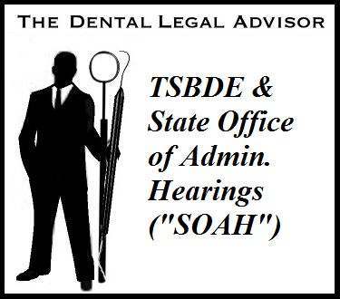 TSBDE & State Office of Administrative Hearings