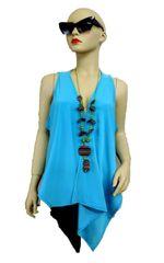 Turquoise draped vest