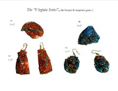 """Virginia Series""...bronze & turquoise paper gems :)"