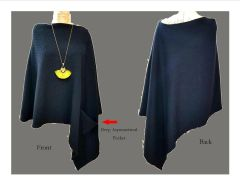 Black Assymetrical Poncho