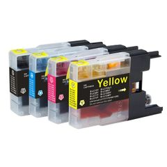 Dubaria LC 400 Ink Cartridge Compatible For Brother LC12, LC40, LC71, LC73, LC75, LC400, LC1220, LC1240 For Use In Brother MFC-J6910CDW / J6710CDW / J840N Printers - Black, Cyan, Yellow, Magenta