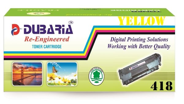 Dubaria 418 Yellow Toner Cartridge Compatible For Canon 418 Yellow Toner Cartridge