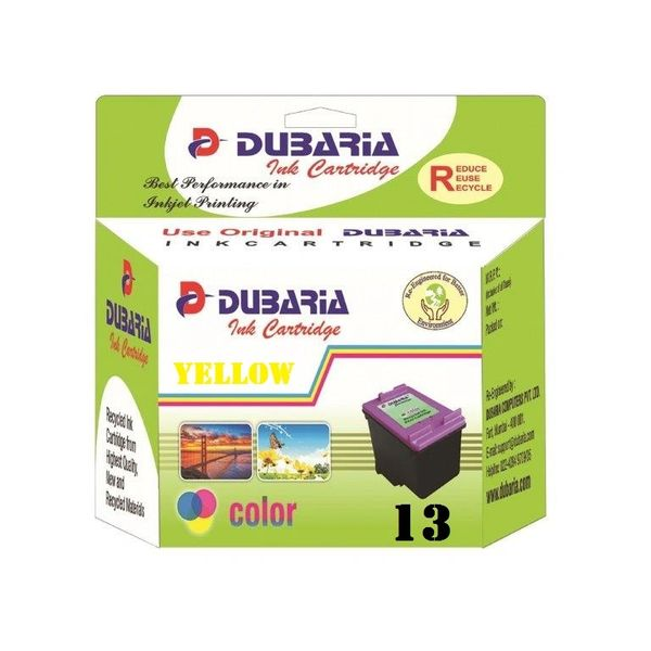 Dubaria 13 Yellow Ink Cartridge For HP 13 Yellow Ink Cartridge