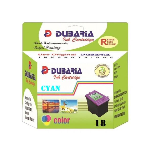 Dubaria 18 Cyan Ink Cartridge For HP 18 Cyan Ink Cartridge