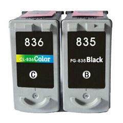 Dubaria PG-835 Black & CL-836 TriColor Ink Cartridge Compatible For Canon PG-835 & CL-836 Ink Cartridge - Combo Value Pack
