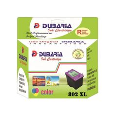 Dubaria 802 XL Tricolour Ink Cartridge For HP 802XL Tricolour Ink Cartridge