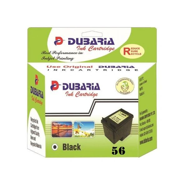 Dubaria 56 Black Ink Cartridge For HP 56 Black Ink Cartridge