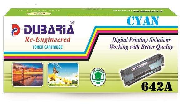 Dubaria 642A Compatible For HP 642A Cyan Toner Cartridge / HP CB401A Cyan Toner Cartridge HP Color LaserJet CP4005, CP4005dn,