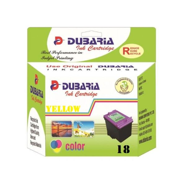 Dubaria 18 Yellow Ink Cartridge For HP 18 Yellow Ink Cartridge