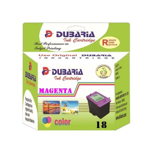 Dubaria 18 Magenta Ink Cartridge For HP 18 Magenta Ink Cartridge