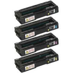 Dubaria Color Toner Cartridges Compatible For Ricoh C220, C221, C222, C240 (406046 Black, 406047 Cyan, 406044 Yellow, 406048 Magenta) Toner Cartridge Combo
