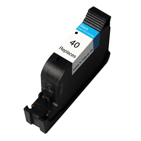 Dubaria 40 Black Ink Cartridge For HP 40 Black Ink Cartridge For Use In HP DesignJet 200, 230, 250c, 330, 330c, 330d/e, 350c, 430, 430d, 450c, 455c, 455ca, 488c, 488ca, 650c, 650c/ps, 2500cp, 3500cp, DeskJet 1200c, 1200c/ps, 1200ps (51640A)