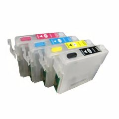 Dubaria Empty Refillable Cartridge For Use In ME Office 82WD, 85ND, 900WD, 940FW, 960FWD, WP-7011, WP-7018, WP-7511, WF-7521, WF-3011, WF-3521, WF-3531, WF-3541 Printers Compatible With Epson T1431 / 32 / 33 / 34