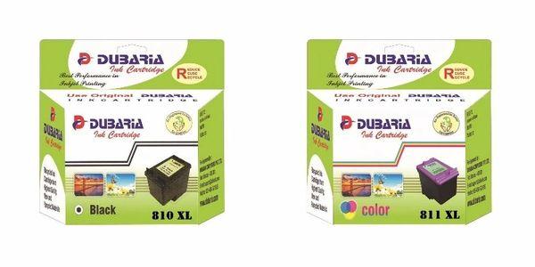Dubaria 810 XL Black and 811 XL Tricolor Combo Multicolor Ink for Canon 810 XL & 811 XL
