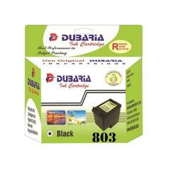 Dubaria 803 Black Ink Cartridge For HP 803 Black Ink Cartridge For Use In HP DeskJet 1112, 1111, 2131, 2132 Printer