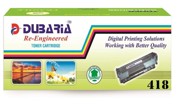 Dubaria 418 Black Toner Cartridge Compatible For Canon 418 Black Toner Cartridge
