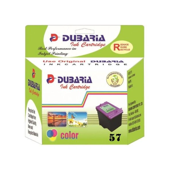 Dubaria 57 Tricolour Ink Cartridge For HP 57 Tricolour Ink Cartridge