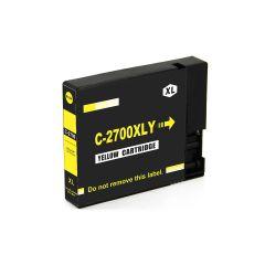 Dubaria 2700 XL Yellow Ink Cartridge Compatible For Canon PGI 2700 XL Yellow Ink Cartridge For Use In Canon Maxify IB 4080, IB 4070, IB 4170, MB 5070, MB 5080, MB 5370, MB 5470, MB 4075, MB 5170 Printer
