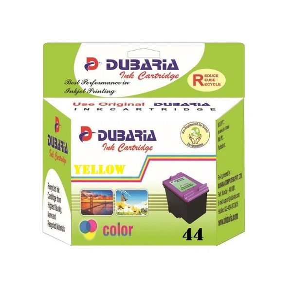 Dubaria 44 Yellow Ink Cartridge For HP 44 Yellow Ink Cartridge