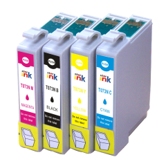 Starink 73N Compatible Ink Cartridges For Epson T0731N / 32N / 33N / 33N for Use In All Epson Printer TX210 / T13 / TX121 / TX100 / TX101 / TX10 / TX103 / TX110 - 230 Page Yield
