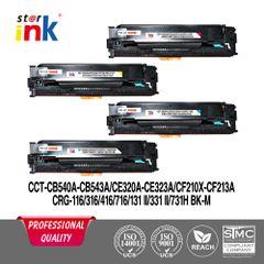 Starink 125A Toner Cartridge Bundle Combo Compatible For HP 125A - 540A, 541A, 542A, 543A Toner Cartridge For HP Printers Color LaserJet CM1312 / CM1312nfi / CP1210 / CP1215 / CP1510 / CP1515n / CP1518ni - 2200 Page Yield Each