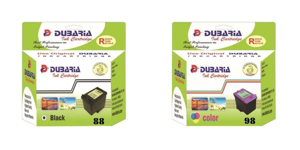 Dubaria PG 88 & CL 98 Ink Cartridge Combo Compatible For Use In Canon PIXMA E500, 510, 600, 610