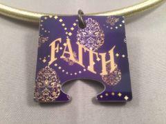 Faith Female Puzzle Piece, God Tag