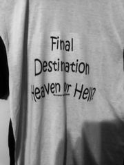 Final Destination Black and White T-Shirt