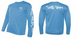 Salty Veins long sleeve dri-fit columbia blue
