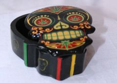 Skull Candy Stash Box - Rasta