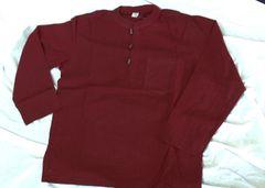 Men's Cotton Shirt - Burgundy