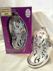Melting Clock - Purple - freestanding
