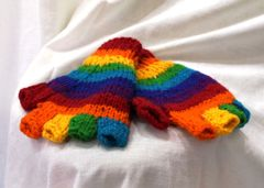 Fingerless Gloves - Rainbow
