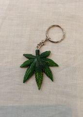 Marijuana Leaf Keyring