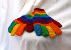 Woollen Gloves - Rainbow