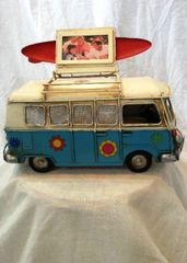 Metal Kombi Photo Frame & Money Box - Blue